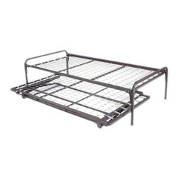 Hi-Riser trundle bed combo set (Steel daybed set) - This Hi-Riser trundle bed combo set is ideal for a guest room with limited space!