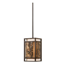 Uttermost - Quarry 1 Light Mini Pendant - Slabs Of Marble Over An Ivory Shade Create A Simple Linear Feeling That Works With A Broad Range Of Looks, Effective Whether Contemporary, Transitional, Or Rustic. Number Of Lights: 1, Shade Size: Height: 12, Width: 5.5, Depth: 5.5, Voltage: 110, Wattage: 100w, Bulbs Included: No