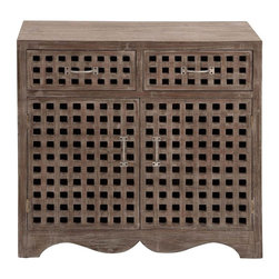 Benzara - Cabinet with Beautiful Carved Design in Modern Texture - Add class and elegance into your living room interiors with this uniquely designed wood cabinet. Your artistic taste will surely receive tons of compliments when you include this unique creation in your home decor. The fine finish enhances the appearance of the cabinet and the decor all together. The modern texture complements the settings of the room as it adds a hint of subtle beauty. Crafted in solid wood composite with beautiful carved design, this cabinet is elegant and graceful. This durable cabinet comes in a compact design, and enhances the home decor with its overall pattern and visual appeal. This high quality cabinet comes with spacious drawers and smooth edges. The cabinet elegantly displays your wares, and blends into any background setting..