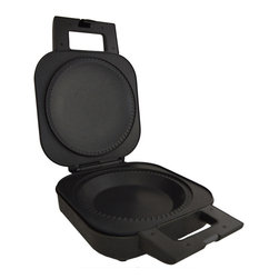Wolfgang Puck - Wolfgang Puck 9-inch Electric Pie Maker with Pastry Cutter (Refurbished) - Bake your favorite pies without heating up the whole house with the help of this small,convenient pie maker. Constructed of non-stick stainless steel,this black appliance comes with a reversible pastry cutter.