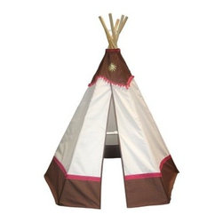 Dexton 6 ft. Western Teepee - Spark imagination and inspire creative play with the Dexton 6 ft. Western Teepee. Made with a durable canvas fabric, this teepee-style tent features a handsome western themed pattern in beige and brown with red accents. Perfect for indoor or outdoor play, it's water-repellent, fire-resistant, and easy to set up.About DextonDexton has been manufacturing distinguished, high-quality children's musical instruments and ride-ons for over 10 years. Located in the Orange County area of Southern California, its factories produce 50 of the most popular musical instruments to professional standards that music teachers prefer. Dexton also produces a wide assortment of battery-powered and pedal car ride-ons, as well as children's furniture. Dexton uses the highest-quality wood, leather, and chrome-plated steel when manufacturing its safe, kid-friendly products.