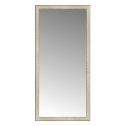 """Posters 2 Prints, LLC - 25"""" x 52"""" Libretto Antique Silver Custom Framed Mirror - 25"""" x 52"""" Custom Framed Mirror made by Posters 2 Prints. Standard glass with unrivaled selection of crafted mirror frames.  Protected with category II safety backing to keep glass fragments together should the mirror be accidentally broken.  Safe arrival guaranteed.  Made in the United States of America"""