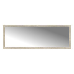 """Posters 2 Prints, LLC - 71"""" x 25"""" Libretto Antique Silver Custom Framed Mirror - 71"""" x 25"""" Custom Framed Mirror made by Posters 2 Prints. Standard glass with unrivaled selection of crafted mirror frames.  Protected with category II safety backing to keep glass fragments together should the mirror be accidentally broken.  Safe arrival guaranteed.  Made in the United States of America"""
