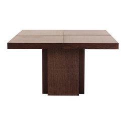 """Temahome - Dusk 51"""" Dining Table, Chocolate - A table for everyday use, the Dusk tables has a central stand instead of the traditional four legs, offering additional space for extra guests. Available in the chocolate finish, this piece will go wonderfully with many get-togethers at home."""