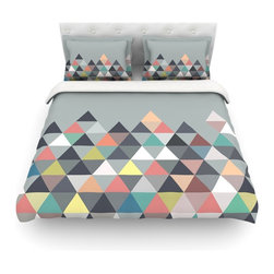 """Kess InHouse - Mareike Boehmer """"Nordic Combination"""" Gray Abstract Cotton Duvet Cover (Queen, 88 - Rest in comfort among this artistically inclined cotton blend duvet cover. This duvet cover is as light as a feather! You will be sure to be the envy of all of your guests with this aesthetically pleasing duvet. We highly recommend washing this as many times as you like as this material will not fade or lose comfort. Cotton blended, this duvet cover is not only beautiful and artistic but can be used year round with a duvet insert! Add our cotton shams to make your bed complete and looking stylish and artistic! Pillowcases not included."""