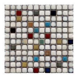 Somertile - Somertile Tuscan Spiral Cascade Ceramic Mosaic Tiles (Pack of 10) - Type/style: Mosaic tileBrand: SomertileMaterial: Ceramic mosaic