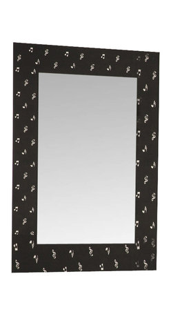 Decor Wonderland Mirrors - Decor Wonderland Carnegie Hall Music Framed Wall Mirror - The Carnegie Hall Framed Wall Mirror is a beautiful and musical addition to any room in your home. This large framed mirror has a unique style and design sure to impress your guests. Inspired by our love to sing, this mirror is a sure hit.