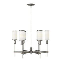Hinkley Lighting - Hinkley Lighting 4076BN Princeton Brushed Nickel 6 Light Chandelier - Hinkley Lighting 4076BN Princeton Brushed Nickel 6 Light Chandelier