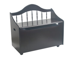 Gift Mark - Gift Mark Home Kids Baby Toddler Children Toy Storage Box On Casters Espresso - The Gift mark Deccan Bench Toy & Storage Chest is Beautifully detailed with a Spindle Back. This beautiful Piece can Also Functions as a Bench Seat, in any Room. This Multi-functional Solid Wood Deccan Bench Toy and Storage Box will add an element of sophistication to any Room. This Deccan Bench Toy and Storage Box can Later be used as a Storage Center, for Clothing and/or Linens. The Top lid has been designed with Special Safety Hinges to support the Lid, to Prevent accidental closures onto little Fingers. We have Designed the Front with Safety-Finger Cut-outs to protect little fingers from getting Pinched. Comes complete with all Tools for Assembly. Comes with Casters to make it easy to Move. Easy to Assemble.