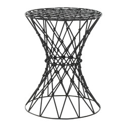 Safavieh - Safavieh Steelworks Wire Black Matte Iron Stool - Decorate your home with these unique black matte iron stools. The contemporary stools have an intricate artistic wire design that will look great in any modern living space. The stools measure 17.5 inches high x 13.5 inches wide x 13.5 inches deep.