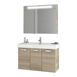 ACF - 40 Inch Larch Canapa Bathroom Vanity Set - Add this quality, contemporary bathroom vanity to your already contemporary personal bathroom.