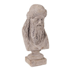 Howard Elliott - Ancient Greek Philosopher Oversized Ceramic Bust - Ancient Greek Philosopher Oversized Ceramic Bust.