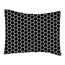 SheetWorld - SheetWorld Crib / Toddler Percale Baby Pillow Case - Black Honeycomb - Baby or Toddler pillow case. Made of an all cotton percale/woven fabric. Opening is in the back center and is envelope style for a secure closure. Features a black honeycomb print.