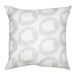 COCOCOZY - COCOCOZY Rive Cotton Pillow in Mist - Made in U.S. from imported fabric - 100% Cotton - Feather Down Insert - Original Design