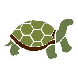 My Wonderful Walls - Tortoise Stencil for Painting - - 2-piece tortoise wall stencil