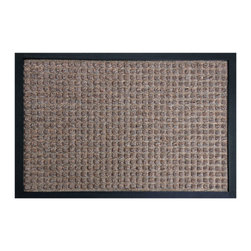 Rubber-Cal - Rubber-Cal 'Nottingham' Brown Carpet Mat (2' x 3') - The Nottingham entrance mat is an eco-friendly mat made with a natural and reclaimed rubber. Its polypropylene fiber surface acts as a perfect traction mat in wet or slippery entryways and brings unbeatable non-slip protection to a home or office.