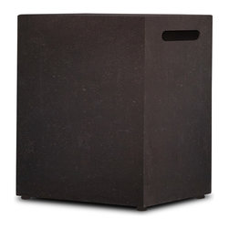 Real Flame - Real Flame Baltic Kodiak Brown LP Tank Cover - This Baltic LP tank cover from Real Flame is cast from a high-performance, lightweight fiber-concrete with an outdoor-safe finish. This tank cover will conceal your 20-pound LP tank even while in use.