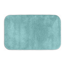 None - Enliven Textured Seafoam 24x40 Bath Rug - Sophisticated yet durable,machine washable and soft,this Enliven textured bath mat brings design and comfort to your bath,shower or spa. The rug is created from durable nylon with non-skid latex backing for safety.