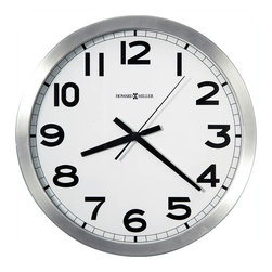Howard Miller - Howard Miller Spokane Wall Clock in Brushed Aluminum Finish - Howard Miller - Wall Clocks - 625450 - For over 70 years, Howard Miller has understood the need to create products that are steeped in quality and value and to never expect anything less than the best. No matter the price of the purchase, you have Howard Miller's assurance of quality that is reflected in both the products they create, and in the people whose artistic talents they rely on to manufacture them. Incomparable workmanship. Unsurpassed quality. A quest for perfection.