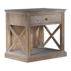Curations Limited - French Casement Bedside Table -