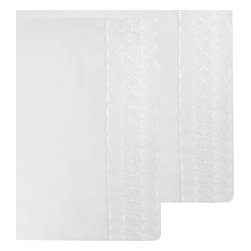 Store51 LLC - White Pillowcase Set Lace Trim Pillow Covers - FEATURES: