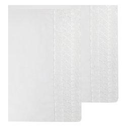 Store51 LLC - White Pillowcase Set Lace Trim Pillow Covers - FEATURES: