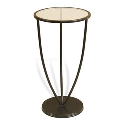 Interlude - Cala Side Table - Clean transitional lines softened by a dark Bronze finish make the Cala Side Table perfect for your space.