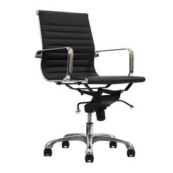 Discovery Mid Back Chair in Black Vinyl