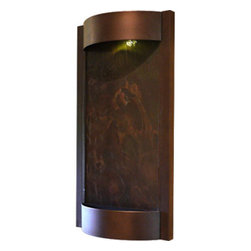 "Bluworld Innovations, LLC - Contempo Terra Wall Fountain 36""H x 19""W Oil Rubbed Bronze w/Natural Slate - Oil Rubbed Bronze powder coat with a natural multi-color slate water panel. The Contempo series wall fountains are a wonder to look at and listen to. The sleek style and simplistic design are sure to modernize any living environment. These wall fountains will bring you many years of relaxation and stress relief. Designed to mount easily to drywall with a single bracket and included hardware."