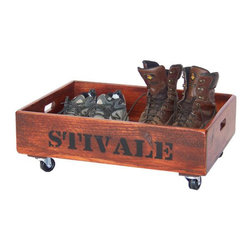 Wine Accessories - Handcrafted from reclaimed quality wood, this wood boot caddy is a wonderful accessory for any wine enthusiast.