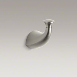 KOHLER - KOHLER Alteo(R) robe hook - Streamlined for contemporary style, Alteo accessories match Alteo faucets to provide a coordinated look for your bathroom. Constructed of durable metal, this robe hook makes a practical and stylish addition to a variety of bathroom decors.