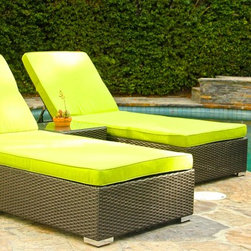 Our Work - 3 Piece Chaise Lounge Set (Green)