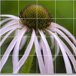 Picture-Tiles, LLC - Flower Picture Mural Tile F368 - * MURAL SIZE: 32x48 inch tile mural using (24) 8x8 ceramic tiles-satin finish.