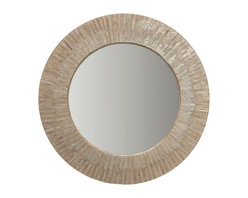 Kouboo - Round Capiz Seashell Sunray Wall Mirror - Here comes the sun! Lustrous capiz shell are artfully arranged into a frame that resembles a burst of sun rays. It will add instant impact to your entryway, living room, bedroom or bath, giving your space a taste of the tropics or a bit of coastal charm.