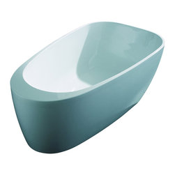 """AKDY - AKDY AK-ZF291 67"""" Europe Style White Acrylic Free Standing Bathtub Soaking Spa - AKDY free standing acrylic bathtubs come in many styles, shapes, and designs. The acrylic material used for tubs is very durable, light weight, and can be molded into a variety of shapes and styles which explain the large selection available in this product category. Acrylic free standing tubs are a cost efficient way to give your bathroom a unique beautiful touch. A bathtub is no longer just a piece of cast iron metal thrown into a bathroom by a builder."""
