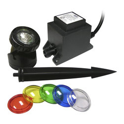Alpine - 10 Watt Powerbeam with Transformer 23ft Cord with Color Lenses - Power beam lights are perfect for pond lighting. Can be used wet or dry.Features: