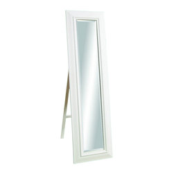 Bassett Mirror Company - Bassett Mirror Transitions Putnam Cheval Mirror in Gloss White - Putnam Cheval Mirror in Gloss White belongs to Transitions Collection by Bassett Mirror Company Bassett Mirror is fluent in this art, showing a terrific contemporary furniture that will satisfy on the one hand fans of home coziness, and on the other hand - seekers of non-standard design solutions also. One of the many strengths of the Bassett Mirror is using high quality materials for perfect embodiment of brilliant design ideas. Mirror (1)
