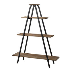 Sterling - Sterling 51-10003 Wooden A Line Shelves With Metal Frame - Sterling 51-10003 Wooden A Line Shelves With Metal Frame