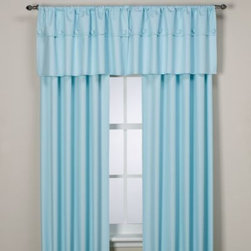 Supreme Blackout - Orlando Kid Insulated Window Curtain Panels in Pale Blue - These beautiful rod pocket window curtain panels are both decorative and quite useful as they are insulated with a durable thermal foam backing that provides energy-saving insulation, room-darkening qualities and noise-reduction.