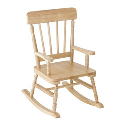 """Levels of Discovery - Simply Classic Rocker Oak Finish - Classic colors�timeless finishes�always in style The perfect accent for any d�cor Photo greeting card included so child can say THANK YOU in a memorable way Includes understamp beneath the seat that the customer can personalizeTimeless finish. Understamp beneath the seat for personalization. Photo greeting card included. All chairs have a """"personalizable"""" understamp. All rockers include photo greeting card and envelope"""