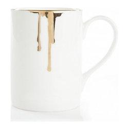 Reiko Kaneko - Reiko Kaneko Drip Tease Mug Gold - Fine china made in the UK dripped in gold!