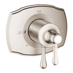 Grohe - Grohe 19844EN0 Polished Nickel - Dual Diverter Grohflex Valve Only Trim Kit - Grohe 19844En0 Polished Nickel - Dual Diverter GrohFlexValve Only Trim Kit