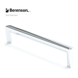 4119-1026-P Polished Chrome Cabinet Pull by Berenson - 160mm center-to-center modern style cabinet knob by Berenson in Polished Chrome.