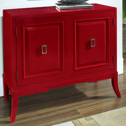 None - Hand-painted Ruby Red Accent Chest - This hand-painted chest has a ruby red finish. Constructed of hardwood and MDF,this accent chest will be a durable and stylish addition to your home decor.