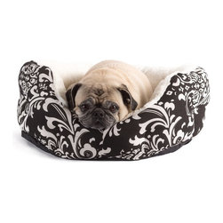 Best Friends by Sheri - Best Friends by Sheri Duchess Cuddler Dog Bed - DCH-AMS-RED-SML - Shop for Beds Covers and Fill from Hayneedle.com! The Duchess Cuddler Dog Bed gives your pooch a soft place to lie while also acting as an elegant accent piece in your home. The easy-to-maintain canvas is printed with a chic brocade design and filled with a super-soft sherpa material that your pup will love to cuddle up in. The center cushion is removable and reversible so that you can choose the ideal look and feel for your furry friend. About SentimentsSentiments is a designer manufacturer and importer of home and pet textile products based in Los Angeles California. Their mission is to design and produce high quality and fashion forward products at an affordable price. They are committed to contributing to the positive development of our community environment and economy through conscious sustainable and philanthropic practices.