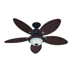 """Hunter Fan 21647 Caribbean Breeze Fan With Light - Get 10% discount on your first order. Coupon code: """"houzz"""". Order today."""