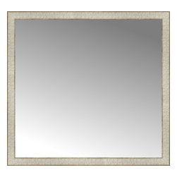 """Posters 2 Prints, LLC - 38"""" x 36"""" Libretto Antique Silver Custom Framed Mirror - 38"""" x 36"""" Custom Framed Mirror made by Posters 2 Prints. Standard glass with unrivaled selection of crafted mirror frames.  Protected with category II safety backing to keep glass fragments together should the mirror be accidentally broken.  Safe arrival guaranteed.  Made in the United States of America"""