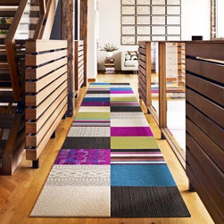 Classic Quilt Carpet Tile Rug Set, Multi - The beauty of Flor tiles is that they can be rearranged as often as you like to change with your home decor. I love this patchwork configuration for hallway areas.