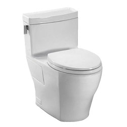Toto - Toto MS624214CEFG#01 1.28GPF VC TLT - Toto MS624214CEFG#01 Legato Elongated One Piece Toilet. Toto is the world's largest plumbing products manufacturer, they have been designing and innovating plumbing fixtures, accessories, showers, and for over 90 years. Each Collection and Product that Toto makes is unique in appearance and performance. This TOTO MS624214CEFG#01 Legato Elongated One Piece Toilet features Toto's patented glazing process (SanaGloss). This Finish is engineered to minimize any particles from sticking to the porous surface of the ceramic toilet bowl. This Toilet also includes an elongated toilet bowl, powerful double cyclone flushing system, and a universal height and rough-in. This Toilet comes in Cotton White.