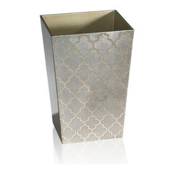 Belle & June - Arabesque Espresso/Coffee Wastebasket - Can you imagine using this for waste? Oh horrors! Maybe in Versailles Palace, but in your home? This handmade espresso finished wastebasket can handle anything. Layers of lacquering give it tough hard finish. So go ahead. Use it!